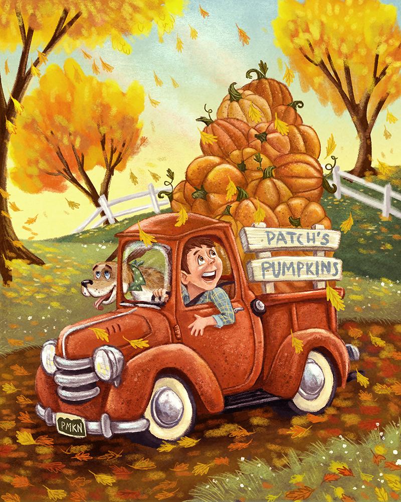beep truck patchs pumpkinsSMALL